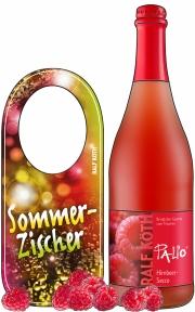 Zeichnung mit Frucht und Flaschenhänger