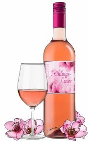 Zeichnung Flasche, Glas, Blüten